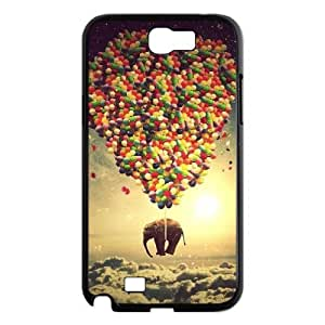 Diy Colorful Balloons Phone Case for samsung galaxy note 2 Black Shell Phone JFLIFE(TM) [Pattern-1]