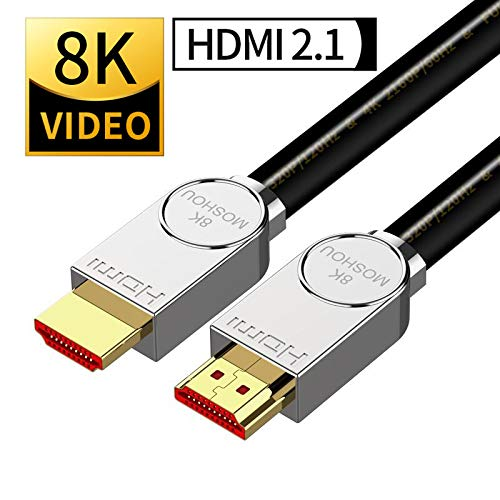SIKAI 8K High-Definition Multimedia Interface Cable 4K@60HZ/8K@120Hz 48Gbps 4320P UHD HDR Ultra High Speed Cable Compatible with LG OLED TV, Samsung QLED TV, Apple TV, VIZIO HD Cord (3 Feet, Black)