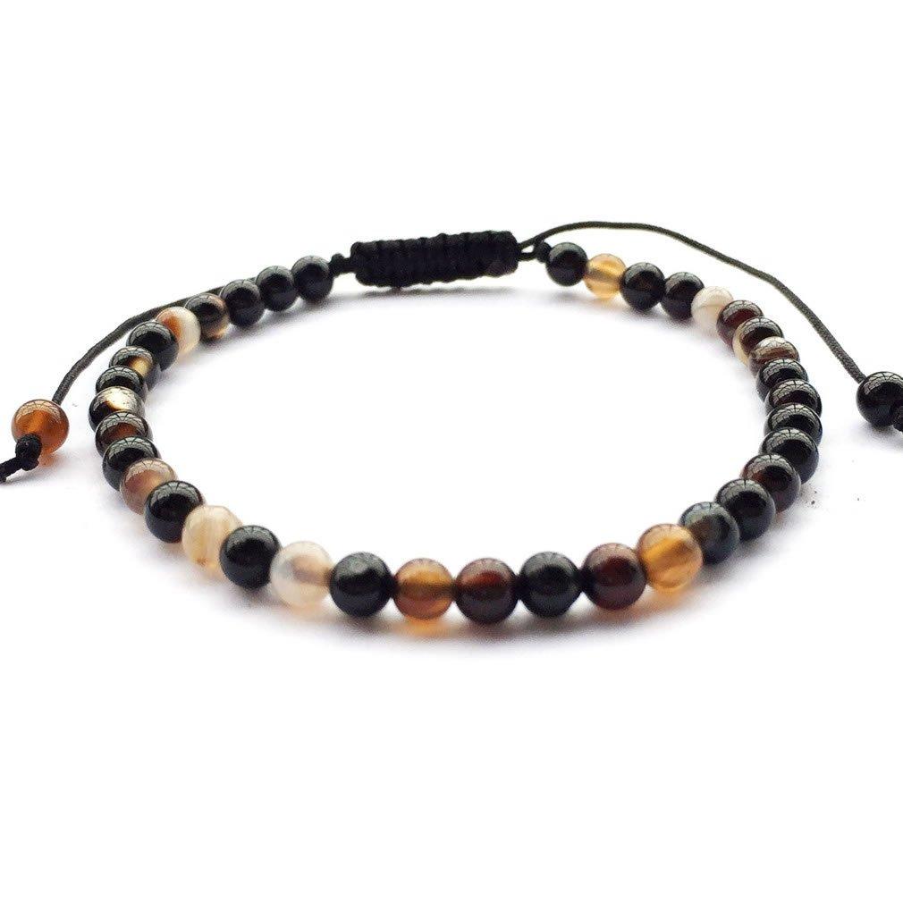 Handmade Gemstone 8mm Round Beads Adjustable Braided Macrame Tassels Chakra Reiki Bracelets 7-9 inch Unisex 4wYTGyljY