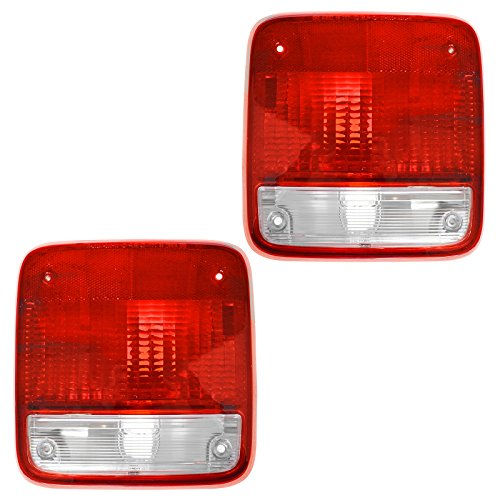 Taillights Lamps Taillamps Pair Set Rear Brake for 85-96 Chevy GMC Van Full Size 1991 Chevrolet G20 Van