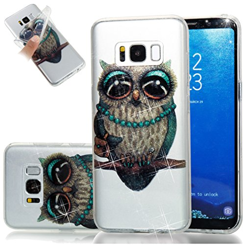 Samsung S8 Plus Funda, Galaxy S8 Plus TPU Case Cover, NEWSTARS Lujo Bling Bling Glamour Brillante Glitter Flamenco Unicornio Mariposa Flor Diseño Funda Carcasa Ultra Delgado Resistente a los Arañazos  B Glitter TPU 3
