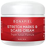 Bonapiel Stretch Mark & Scar Cream - Formula for Scar Removal & Prevention for Men & Women - Natural & Organic Moisturizing Body Cream Treatment - Great for Before & After Pregnancy - 4 OZ