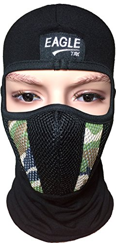 Pearl Diver Costume (Fleece Warm Full Face Cover Balaclava Protecting Filter Camouflage Mask - Woodland)