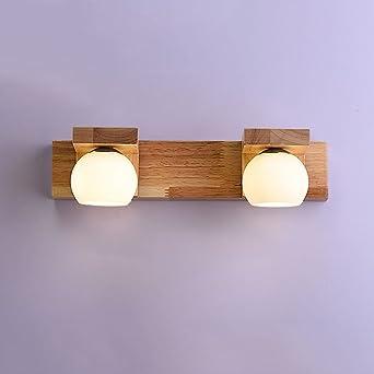 Adelaide   Hölzernes Spiegel Licht Einfaches Modernes Chinesisches  Wohnzimmer Wand Licht
