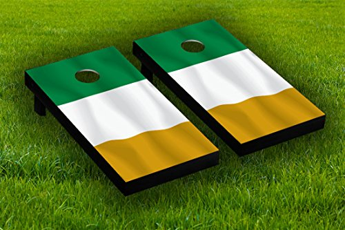 Irish Decal Products (Irish Flag Cornhole Board Wraps Laminated Sticker Set Skin Decal)