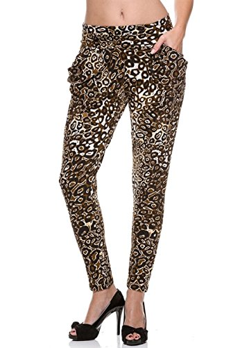 2LUV Women's Sassy Printed Harem Pants with Pockets for sale  Delivered anywhere in USA