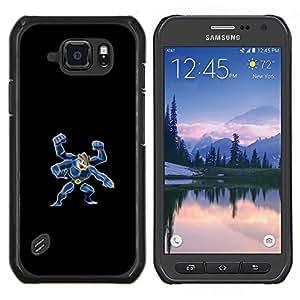 Qstar Arte & diseño plástico duro Fundas Cover Cubre Hard Case Cover para Samsung Galaxy S6Active Active G890A (4 Mano Pekemon)