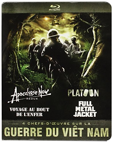 Guerre du Vietnam - Coffret 4 films : Apocalypse Now + Platoon + Full Metal Jacket + Voyage au bout de l'enfer [Blu-ray]