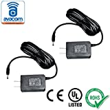 AVACOM AC/DC Adapter, Power Supply, 5V/2A, 10ft Cord, 3.5mm x 1.3mm Connector, UL listed (2 Pack)