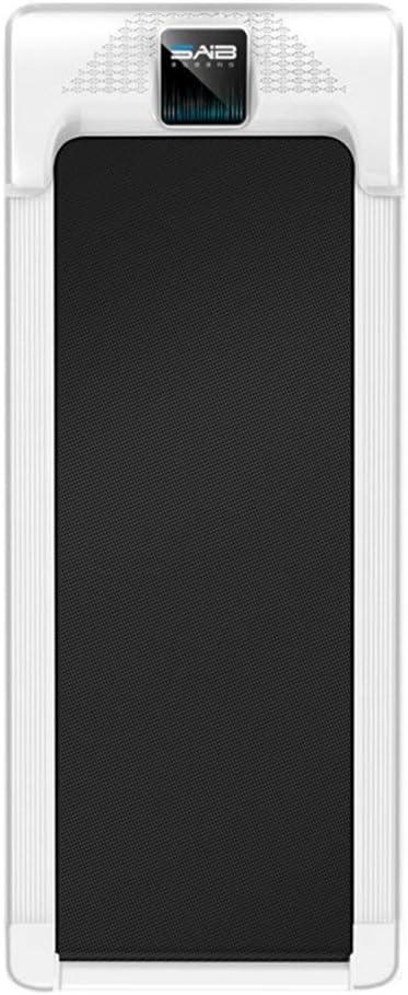 フラットトレッドミル家庭用モデルスモールミニ超静かな屋内ジム専用のシンプルな折りたたみ歩行機械 ランニングマシーン (色 : ブラック, サイズ : 110x50cm) ブラック 110x50cm