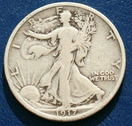 1917 P Walking Liberty 90/% Silver Half Dollar Full Good or Better Full Date and Motto US Mint