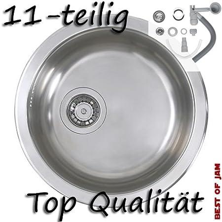 Ikea Boholmen Round Sink Zubhor And Siphon Stainless Steel 45 Cm