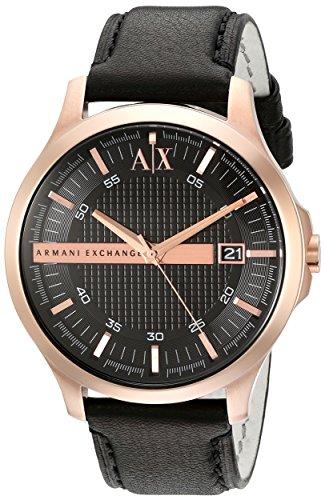 Armani Exchange Men's AX2129 Black  Leather Watch