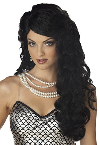 [Mememall Fashion Mermaid Halloween Costume Wig (Black)] (Deluxe Plush Cow Mascot Costumes)