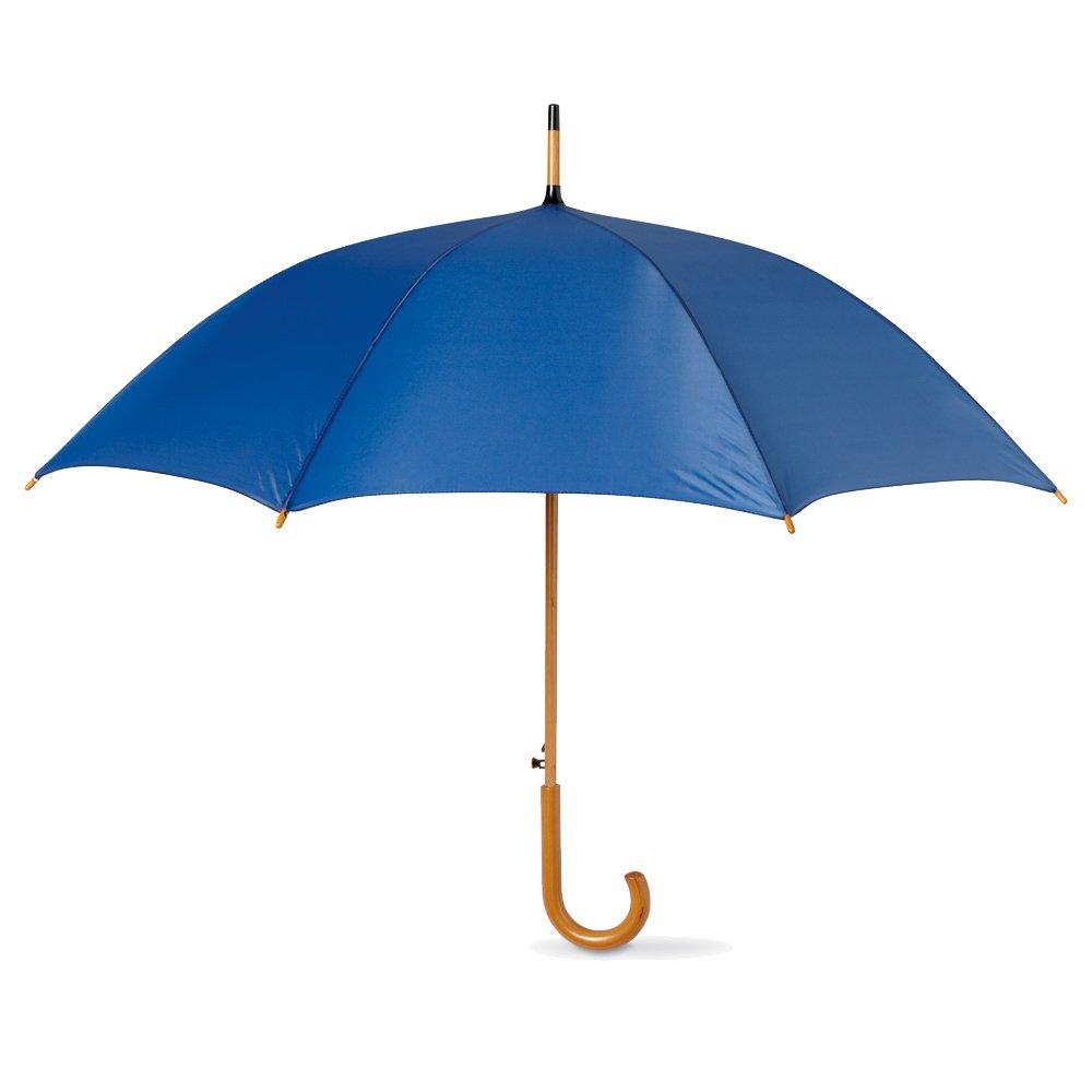 eBuyGB Automatic Classic Wooden Crook Handle Folding Umbrella 41.5' (Black)