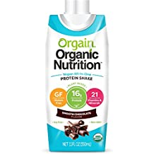 Orgain Vegan Nutritional Shake, Smooth Chocolate, 11 Ounce (Pack of 12)