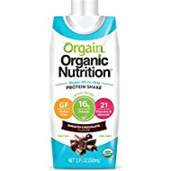 Orgain Plant Based Organic Vegan Nutrition Shake, Smooth Chocolate, Gluten Free, Dairy Free, Non-GMO, 11 Ounce, 12 Count, Packaging May Vary