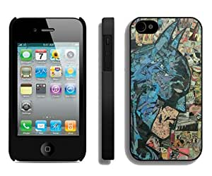 Fashionable iPhone 4 4S Case ,Unique And Lovely Designed Case With Retro Comic Batman Black iPhone 4 4S Cover Phone Case