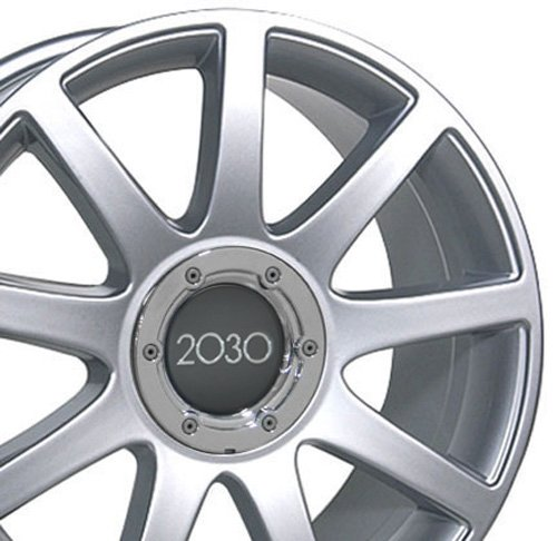 18x8 Wheel Fits Audi, Volkswagen - Audi RS4 Style Silver Rim (Audi A6 Alloy Wheel)