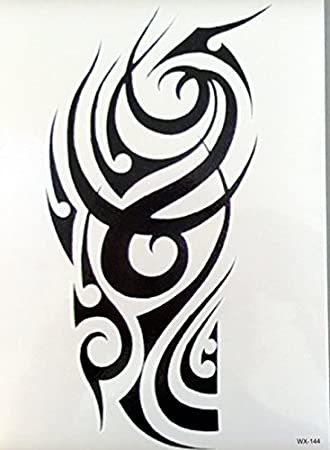 Tribal Temporary Tattoo For Upper Arm Fake Tattoo Sticker Wx144