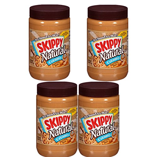Skippy Peanut Butter, Natural Creamy, 40 Ounce (Pack of 4) by Skippy