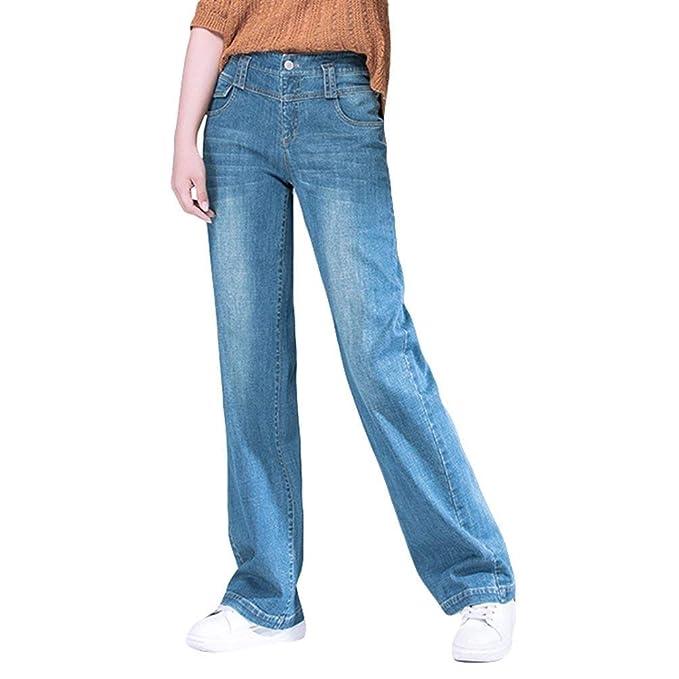 Pantalones Vaqueros Rectos De Talle Alto para De Pantalones ...