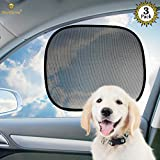 Cheap 3 Car Sunscreen Shade for Dogs – Covers and Protects Pets from Harmful UV Rays, Sunglare and Heat – Ideal for Side and Rear Windows – Premium Quality PVC