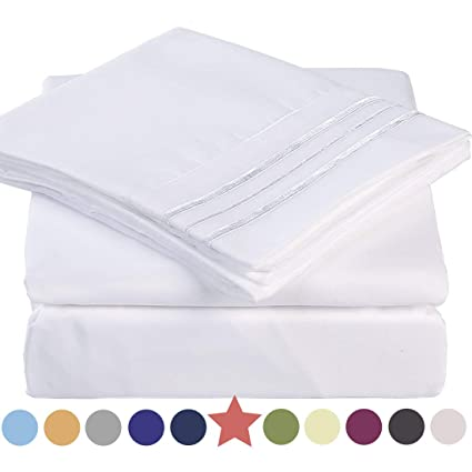 Amazoncom Premium 4 Piece Bed Sheet Set 1800 Thread Count Bedding