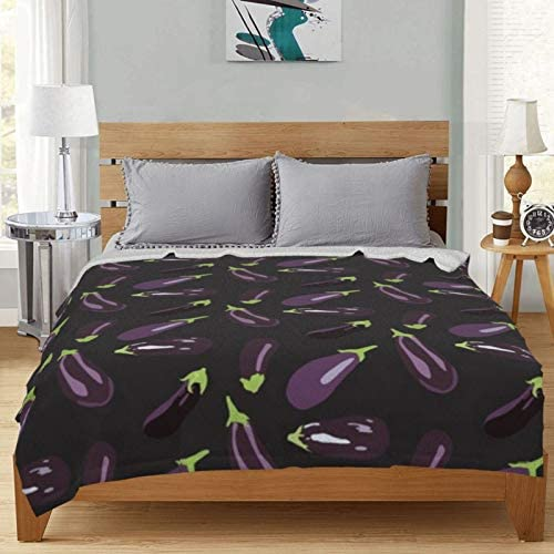 Couverture polaire aubergine pour jardin, vert et violet - Ultra doux et moelleux - Pour canapé, lit et salon - 127 x 101,6 cm