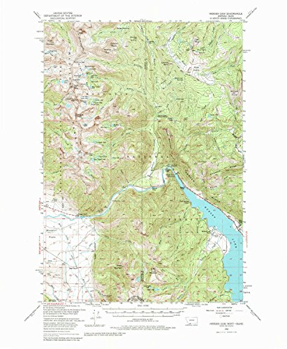 YellowMaps Hebgen Dam MT topo map, 1:62500 Scale, 15 X 15 Minute, Historical, 1950, Updated 1985, 21.8 x 18 in - Paper
