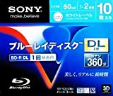 Sony Blu-ray Disc 10 Pack - 50GB 2X BD-R DL Printable for VIDEO - 2012