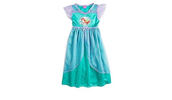 Disney Princess Little Mermaid Girl Dress Up Night Gown Size 4T Green Purple