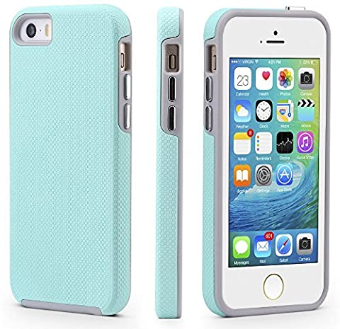 iPhone 5/5s/SE Case, CellEver Dual Guard Protective Shock-Absorbing Scratch-Resistant Rugged Drop Protection Cover For iPhone 5/5S/SE - Iphone 5 Phone Case