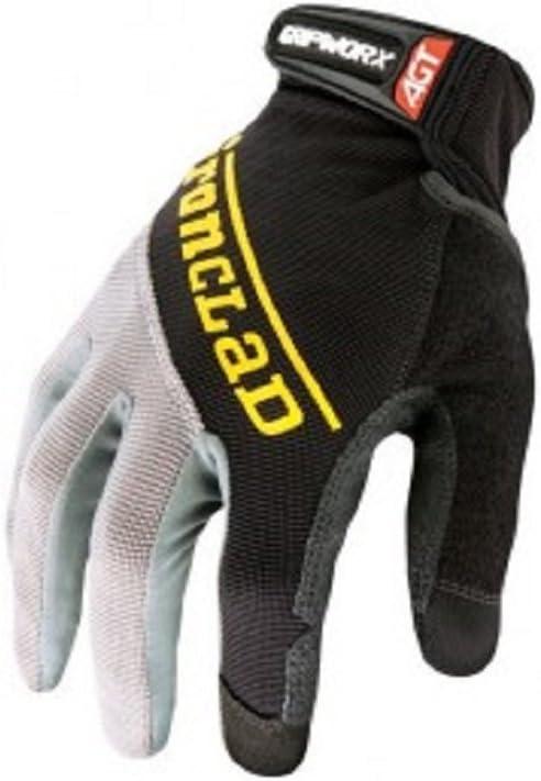 Ironclad BGW-03-M Gripworx Series Gloves, Black, Medium