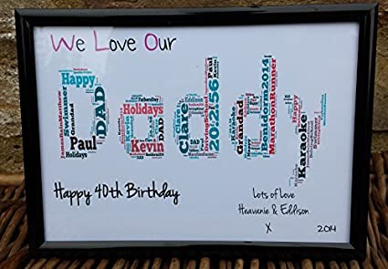 Amazon Little Miss Scrabbled Handmade Daddy Birthday Frame Gift