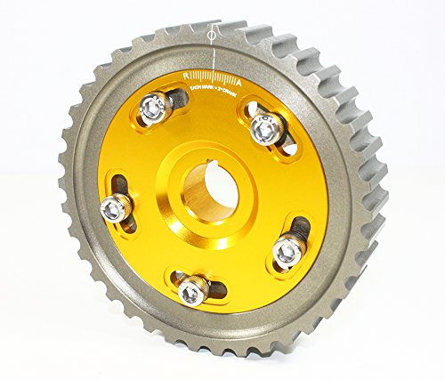 Sol SOHC D16 D15 D13 D Series Engine Adjustable Cam Gear-Gold ()