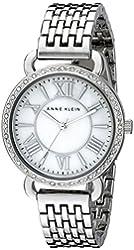 Anne Klein Women's AK/2087MPSV Swarovski Crystal Accented Silver-Tone Bracelet Watch