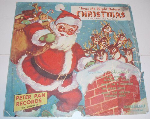 Four Favorite Christmas Songs: Rudolph The Red Nosed Reindeer, Twas the Night Before Christmas, Up on the House Top, Rudolph's Christmas Party; Peter Pan Record
