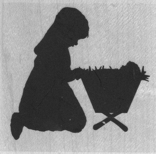 Mary Manger Silhouette Wood Mounted Rubber Stamp (D13159)]()