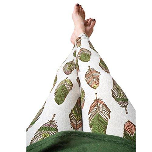 DDLBiz Fashion Feather Stretchy Leggings