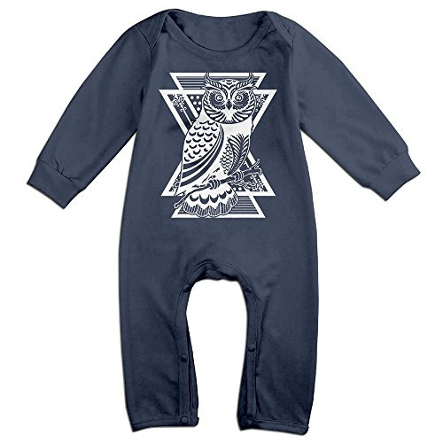 Price comparison product image Owl Baby Romper Jumpsuit Playsuit Outfits Navy 6 M