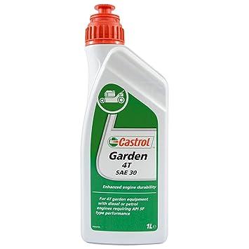 Castrol Aceite para Motor de la Marca 15792A, SAE 30, 1 litro. para jardinería: Amazon.es: Coche y moto