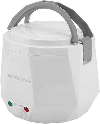 1.3L 12V 100W Olla arrocera eléctrica Caja Mini USB Olla arrocera Extraíble de grado alimenticio Doble hebilla de seguridad Cocine arroz Para uso de ...