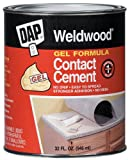 6 Pack Dap 25312 Weldwood Gel Formula Contact Cement - Tan Quart