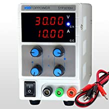 SKYTOPOWER 4 Digit LED Display Variable DC Power Supply 30V 10A Switchable 110/220V