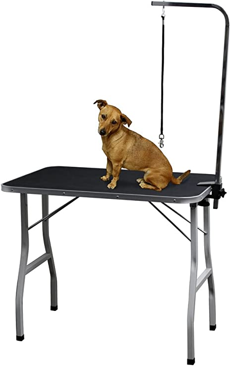 Grooming Table for Dogs - Tables Stand Pet Supplies Best for Small Medium  Large Dog & Cat - Portable Restraint Holder w/Arm, Clamp & Hanging Noose ...