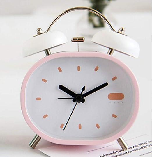 DZXYW Reloj Despertador Estudiante Creativo cabecera del ...