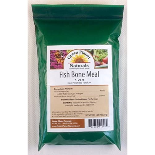 1 LB. Fish Bone Meal 4-20-0 - Non-Pelletized Fertilizer - Green Planet Naturals - Gardening for Small Spaces - FREE SHIPPING!
