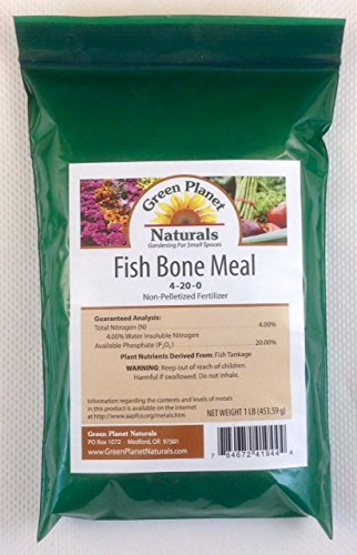 1 lb fish bone meal 4 20 0 non pelletized fertilizer for Fish bone meal