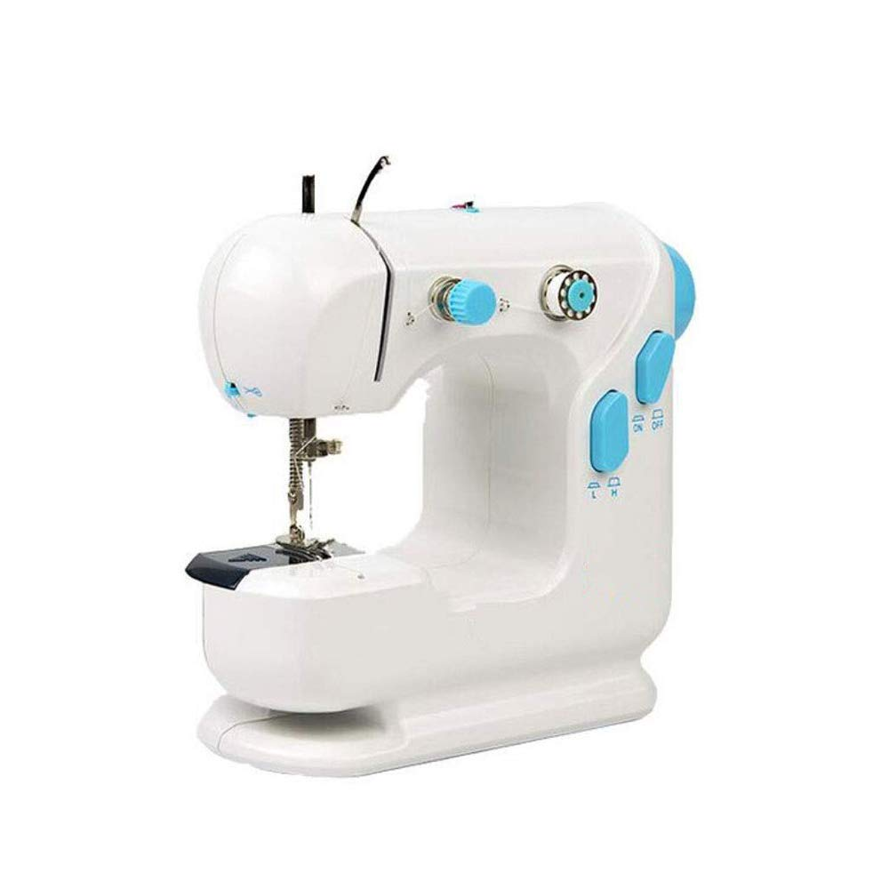 ZYG.GG Mini Sewing Machine Double Speed Automatic Sewing Machine Thread Electric Crafting Mending Machine with Light and Foot Pedal for Fabric Clothing by ZYG.GG